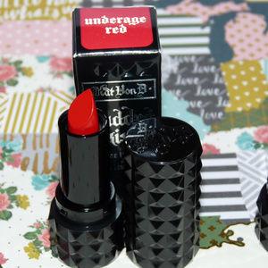 KVD Kat Von D Studded Lipstick Travel Underage Red